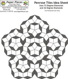 Free English Paper Piecing 6 Point Diamond Layout Pattern