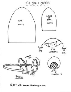 Hobby horse, Templates and Sticks on Pinterest