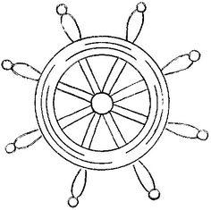 Ship Steering Wheel Template from PrintableTreats.com