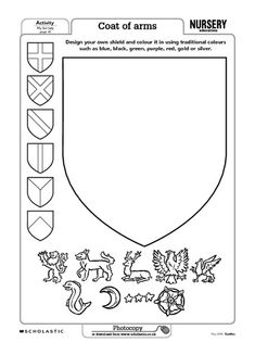 Decorate the shield. DIY template. Back shields with