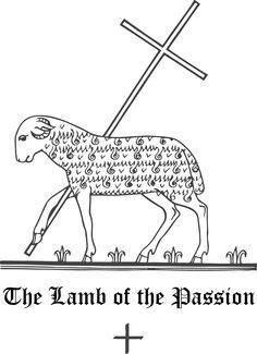Lamb: symbol of Christ as the Paschal Lamb and also a