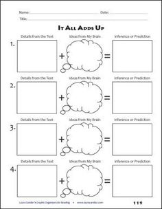 Use Graphic Organizers to make Predictions. Determine what