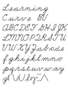 Marion Richardson Script... We learned cord cursive