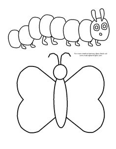 Caterpillar pattern. Use the printable outline for crafts