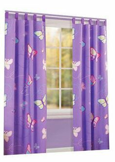 Butterfly Sheer Glow In The Dark Rod Pocket Curtain Panel Girl