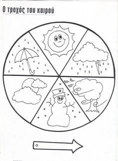 A Four Seasons Coloring Worksheet and Seasons Song for
