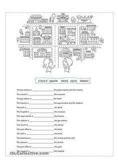 Alien Prepositions of Place Poster to Print, Funny Alien