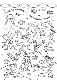 Clownfish pattern. Use the printable outline for crafts