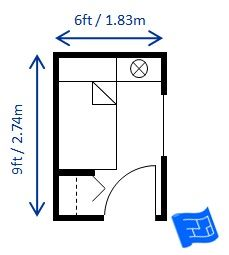 Small Bedroom Design For A Single Bed 6ft X 9ft This Room Is