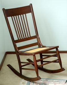 Petite antique Eastlake rocking chair, Victorian ladies