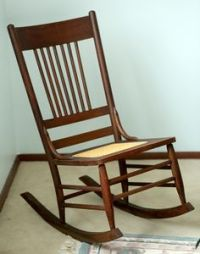 Petite antique Eastlake rocking chair, Victorian ladies