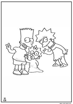 amazing the Simpsons coloring pages for girls and boys