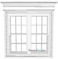 DIY door and window trim molding with cross header | +We ...