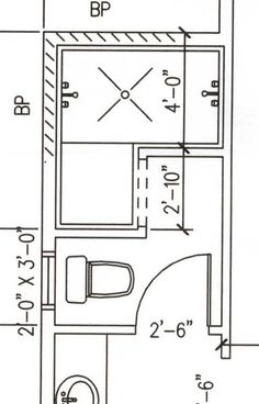 Dimensions for bath with doorless shower. 3x5 minimum but