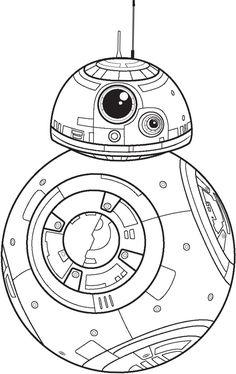 BB8 Star Wars clipart stencil png, Starwars silhouette