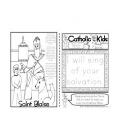 St. Francis Xavier Catholic coloring page. Feast day is