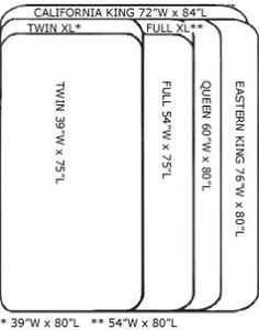 Dimensions Of Cal King Bed