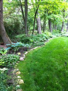 Woodland Edge Garden Design Like The Distinct Separation Between