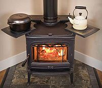 stand alone wood burning fireplace - Google Search ...