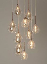 Modern Stairwell Led Chandelier Lighting Large Bubble ...