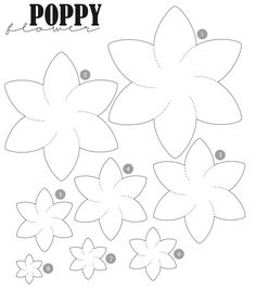 1000+ ideas about Felt Flowers Patterns on Pinterest