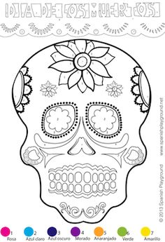 The best sugar skull coloring pages printable ever