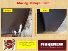 Check Out This Leather Couch Repair! Leather Restore Pinterest