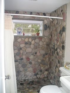 1000 Images About Master Bath River Rock Shower On