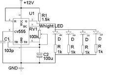 Traffic Light Control Electronic Project using IC 4017