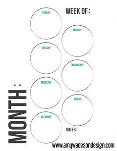 Printable Planner daily planner weekly planner calendar