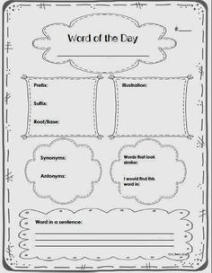 Speech with Sharon: What Does it Mean? Vocabulary Graphic