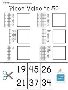 BASE TEN BLOCKS AND COMPARING NUMBERS FREEBIE