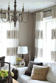 Bold Stripe Curtain Would Look Awesome Behind The Bed Maybe
