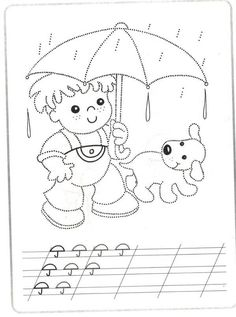Pre-print practice worksheet. Trace the dotted lines. Pig