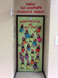 My school had a Christmas door decorating contest. My ...