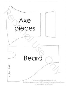 Axe pattern. Use the printable outline for crafts