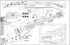 guitar drawing image | This is an exploded view of a steel string guitar Exploded view is