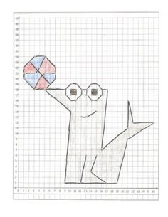 (3) Coordinate Graphing Pictures: a Lion, a Gorilla, and a
