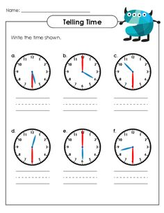 1000+ images about Telling Time Worksheets on Pinterest