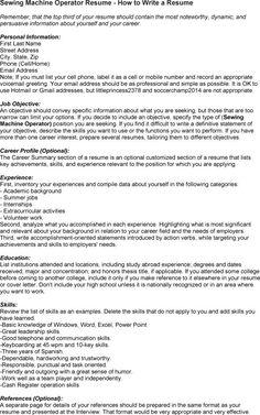 Machine Operator Objective For Resume   Forklift Operator Resume Sample