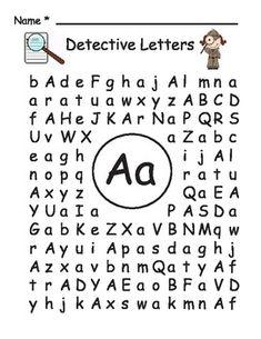Name Letter Hunt Freebie Worksheet! Repinned by SOS Inc