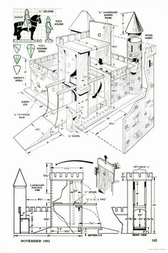 Plans for a dollhouse with elevator. The Young Craftsman