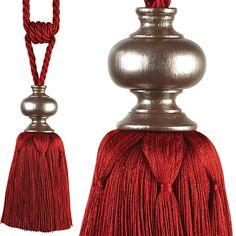 Opulent! Antique Victorian Fancy Glass Beaded Tassel Drape Tie