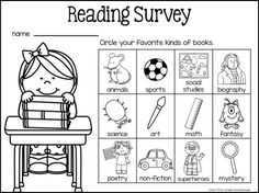 Back to School survey to find out reading interests of