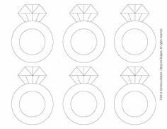 Diamond ring pattern. Use the printable outline for crafts