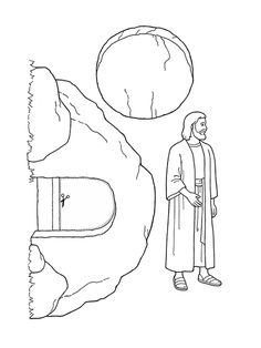 Empty Tomb free Easter Coloring Page (Bible verses from