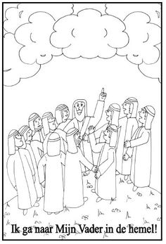 Jesus Goes To Heaven Coloring Page Coloring Pages