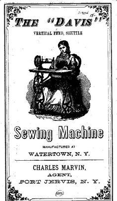 Pre 1900's? Davis sewing machine manual instructions parts