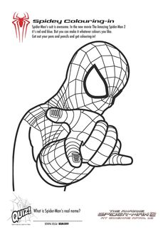 Printable Spiderman Coloring Pages- lots of good Spidey