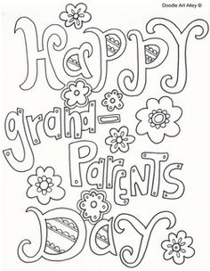 Grandparents Day activities, cards, acrostic poem, graphic organizer, and letters in English and